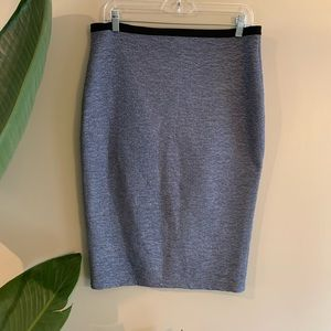 Periwinkle Blue Crinkle Pencil Skirt Medium